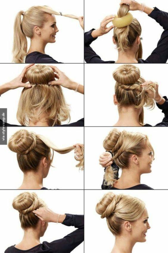 Пучок на кожен день зачіска