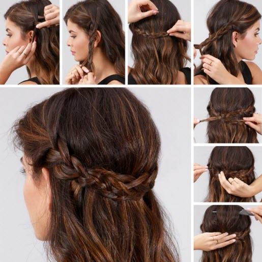 Зачіска з плетінням та косами на кожен день