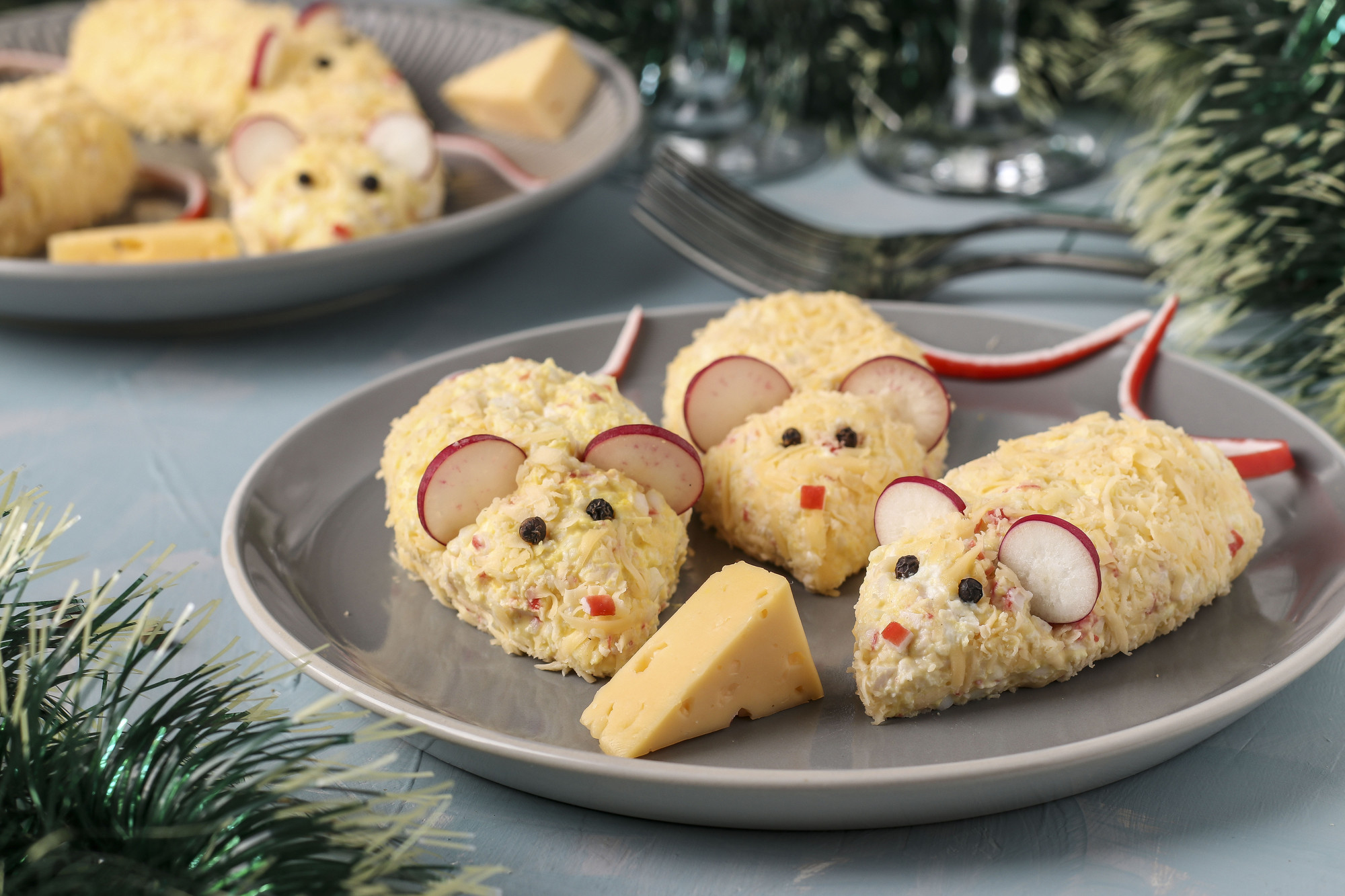 як прикрасити новорічні страви в рік Білого Щура